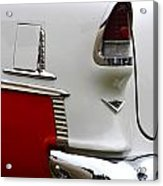 Red And White 1955 Chevy Acrylic Print