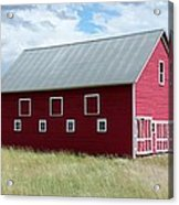 Red And White Barn Acrylic Print