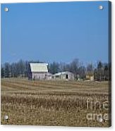 Red And White Barns Acrylic Print