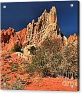 Red And White Desert Towers Acrylic Print