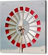 Red And White Windmill Acrylic Print