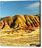 Red And Yellow Painted Hills Acrylic Print