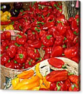 Red And Yellow Peppers Acrylic Print