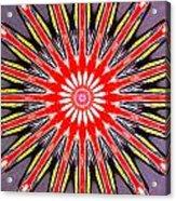 Red Arrow Abstract Acrylic Print