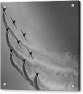 Red Arrows Diamond 9 Acrylic Print