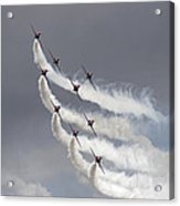 Red Arrows Flying In Formation Acrylic Print