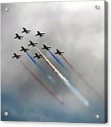 Red Arrows Formation Acrylic Print