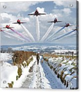 Red Arrows Over Epen Acrylic Print
