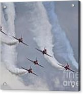 Red Arrows Roll Left Acrylic Print