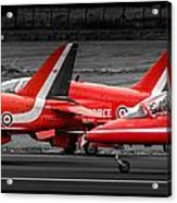 Red Arrows Threesome Take-off Acrylic Print