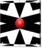 Red Ball 25a Panoramic Acrylic Print