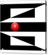 Red Ball 3 Acrylic Print