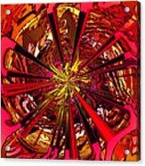 Red Ball 9 Enter The Sun Acrylic Print
