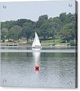Red Ball Sailing Acrylic Print