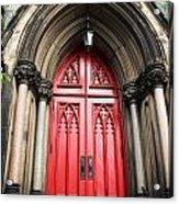 Red Baltimore Door Acrylic Print