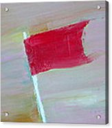 Red Banner Acrylic Print