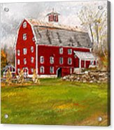 Red Barn In Woodstock Vermont- Red Barn Art Acrylic Print