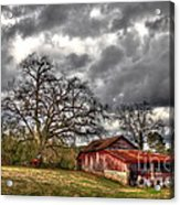 Red Barn On The Boswell Farm Acrylic Print