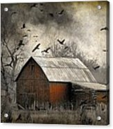 The Old Red Barn Acrylic Print
