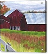 Red Barns At Freehold Acrylic Print