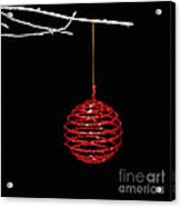 Red Bauble Acrylic Print