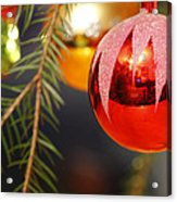 Red Bauble - Available For Licensing Acrylic Print