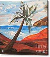 Red Beach Acrylic Print
