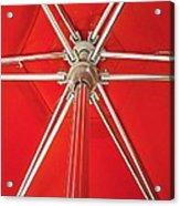 Red Beach Umbrella Acrylic Print