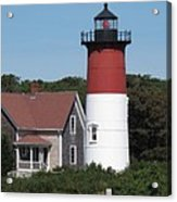 Red Beacon On Nauset Light Acrylic Print