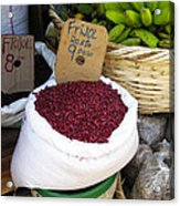 Red Beans At Nicaragua Market Acrylic Print
