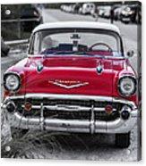Red Belair At The Beach Standard 11x14 Acrylic Print