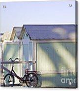 Red Bicycle At Mondello Beach Acrylic Print