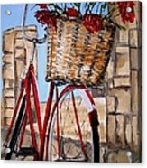 Red Bicycle Acrylic Print
