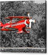 Red Biplane Acrylic Print
