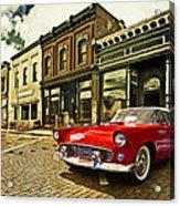 Red Bird On Main Street Acrylic Print