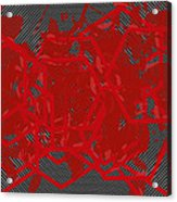 Red Black White Expressions Scramble  Black Red Acrylic Print