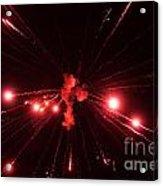 Red Blast And Smoke Acrylic Print