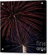 Red Blue Fireworks Acrylic Print