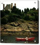 Red Boat In Newport Acrylic Print