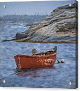 Red Boat In Peggy's Cove Acrylic Print