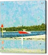 Red Boat Outing Acrylic Print