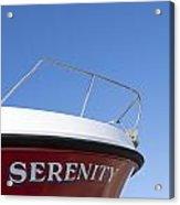 Red Boat Serenity 2 Acrylic Print