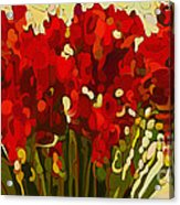 Red Bouquet Acrylic Print