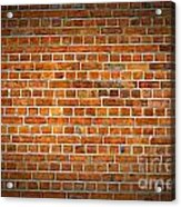 Red Brick Wall Texture With Vignette Acrylic Print