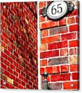 Red Bricks Acrylic Print