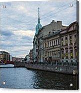 Red Bridge - St. Petersburg - Russia Acrylic Print