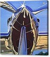 Red Bull P38 Lightning Port Engine Warbird Acrylic Print