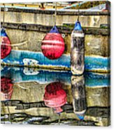 Red Buoy Reflections Of Alaska Acrylic Print