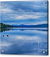 Red Buoys On Loch Rannoch Acrylic Print