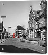 Red Bus And Red Telephone Box - 1960's    Ref-124-2 Acrylic Print